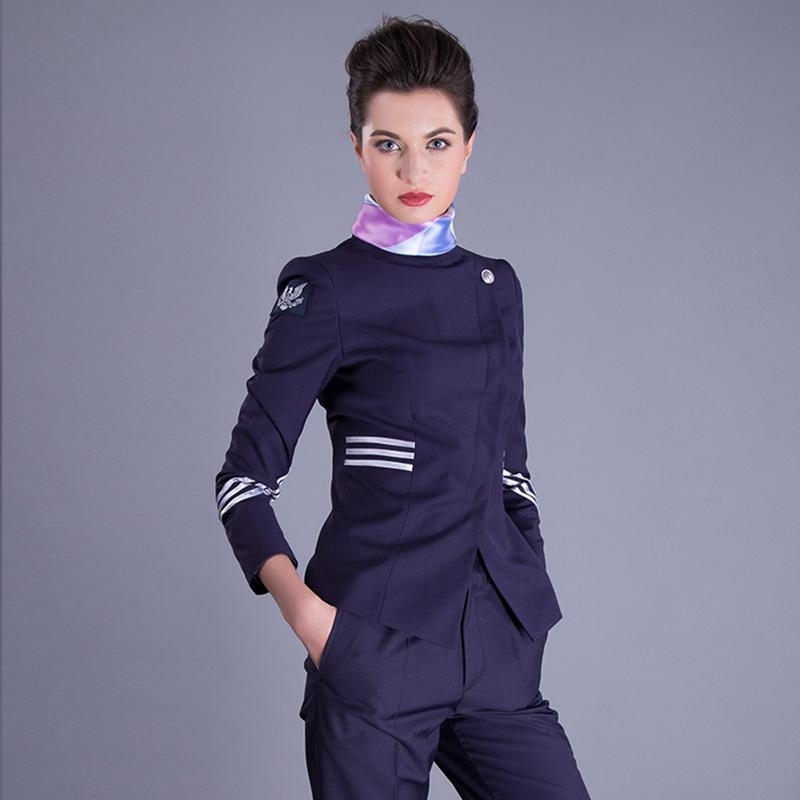 空姐制服面试长袖职业女裙套装售楼工作服定制BDFU009