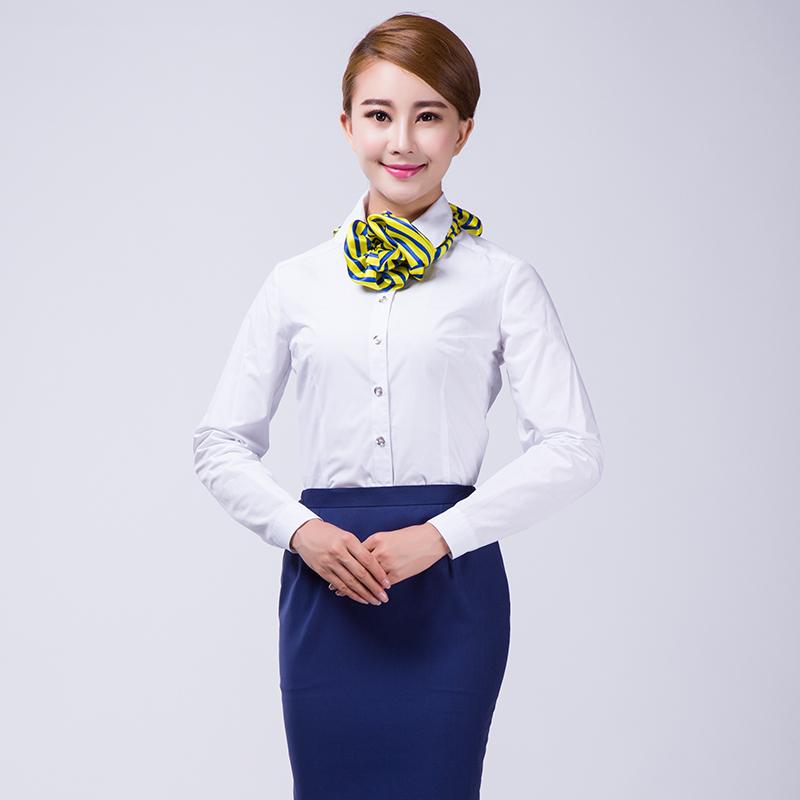 白色衬衫职业装专柜服装高级定制(BDFU010)