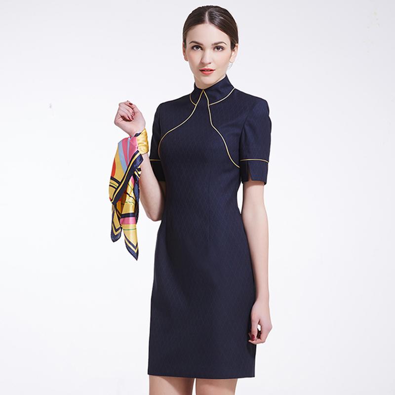 专柜立领修身旗袍高级定制(BDFU016)