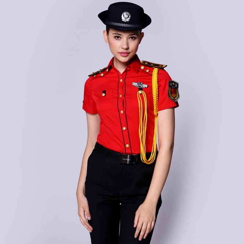 保安制服定制(BDSEL003)红色上衣