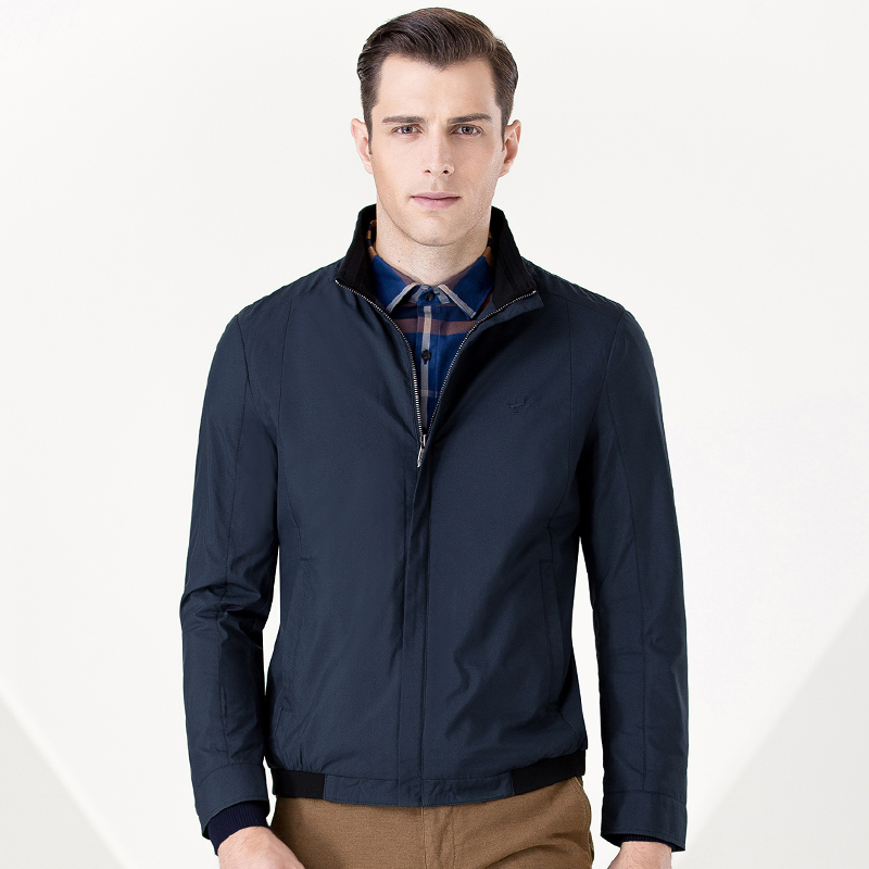 秋季新品茄克男装中青年男时尚休闲立领夹克外套 BDDJ010
