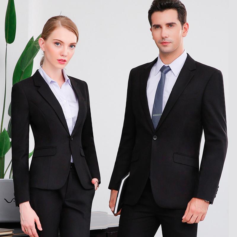 男女同款职业装工作服商务西服定做企业西装定制BDYJK002