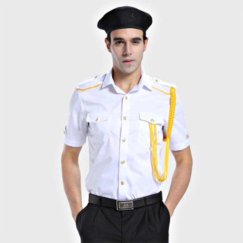 保安制服定制(BDSEL007) 男款白色衬衫