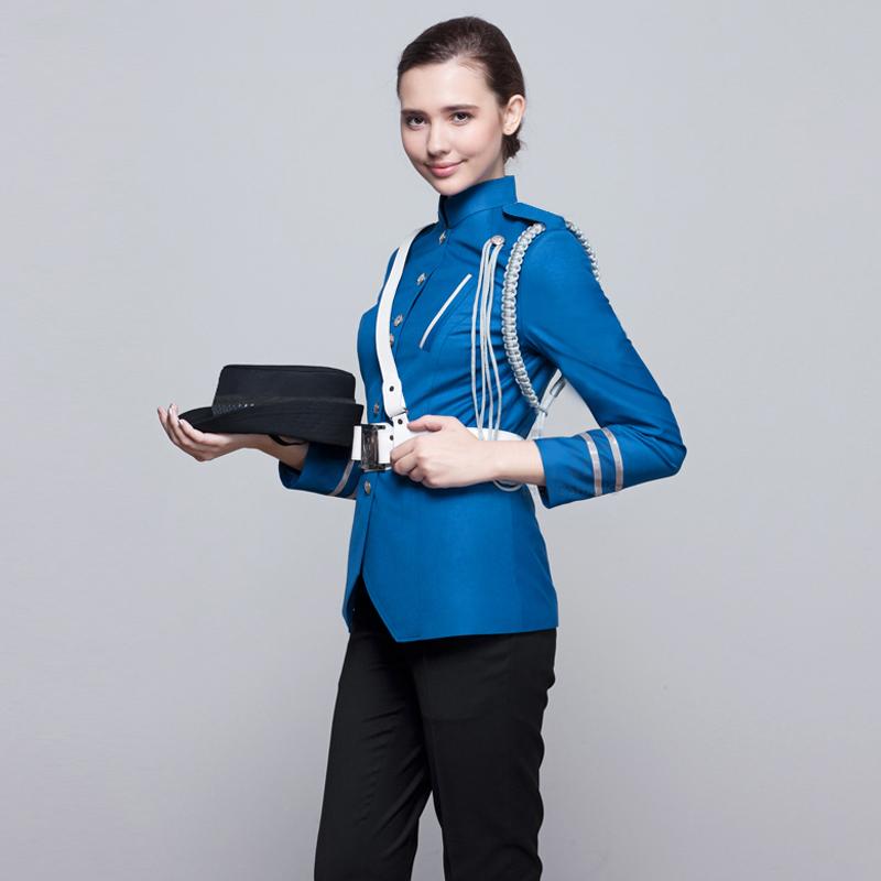 保安制服定制(BDSEL002)蓝色上衣