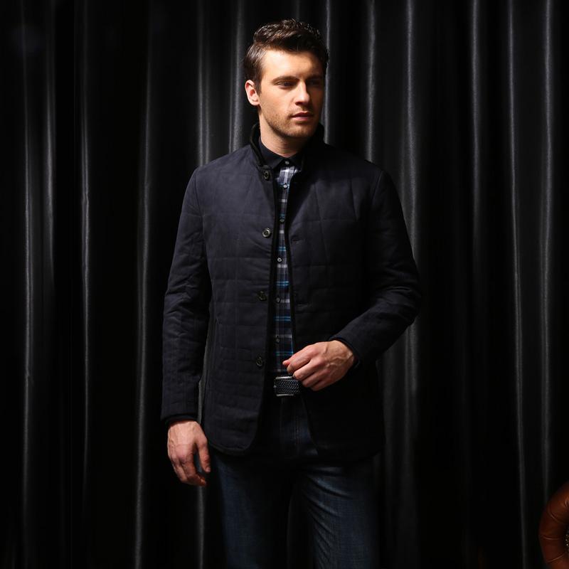 男装商务时尚修身上班防风保暖立领棉服外套夹克定制BDDC001