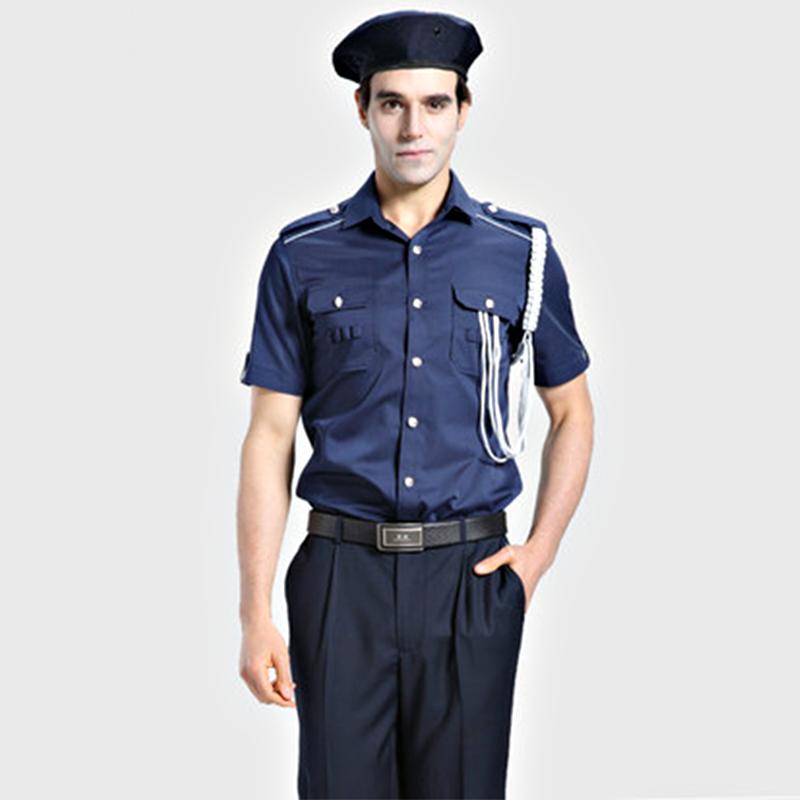 保安制服定制(BDSEL009) 男款深蓝色衬衫套装