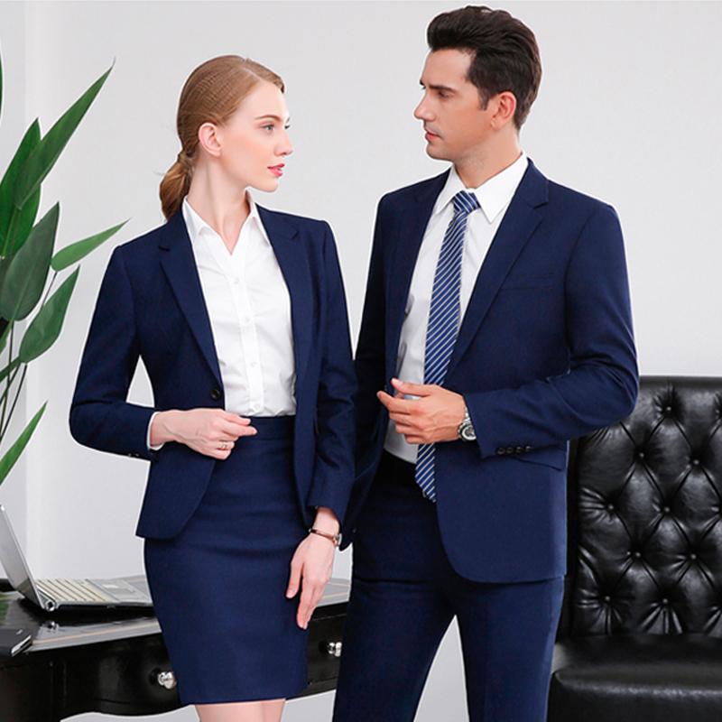 男女同款西服工作服商务西装定做企业职业装定制BDYJK002