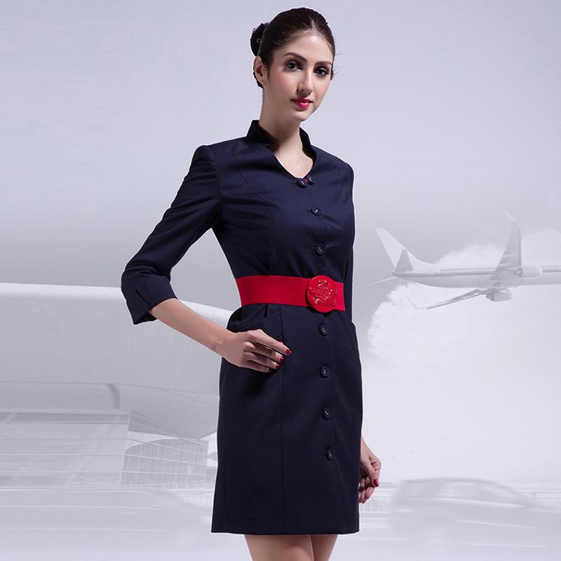 空姐团体制服OL通勤包臀连衣裙工作服女装定制(BDFU05)