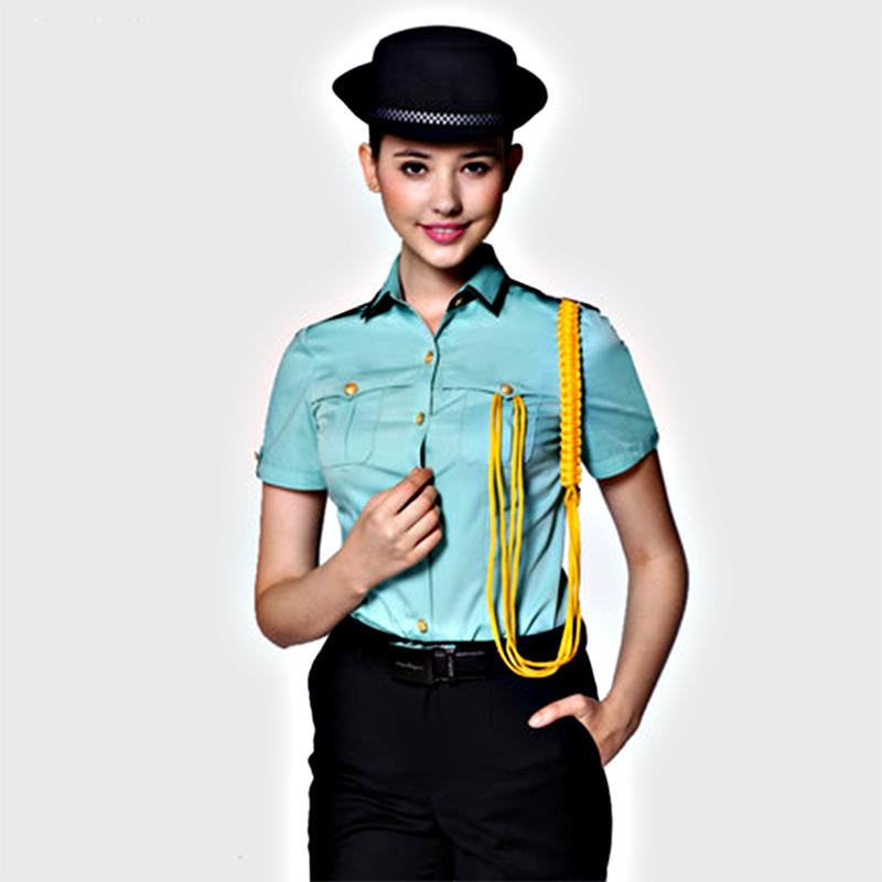 保安制服定制高档短袖衬衫女款保安服(BDSEL005)