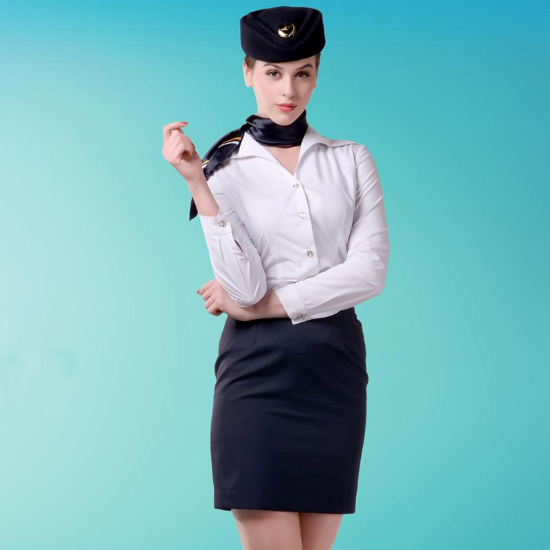 团体制服白色大翻领长袖女衬衫百搭定制BDFU011