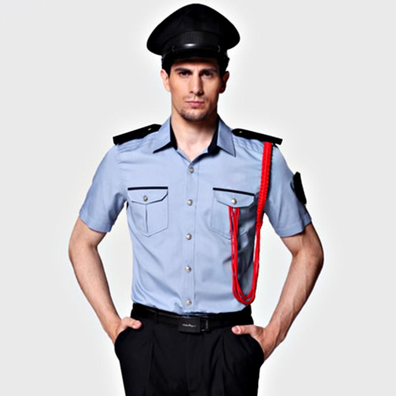 保安制服定制(BDSEL008) 男款蓝色衬衫套装