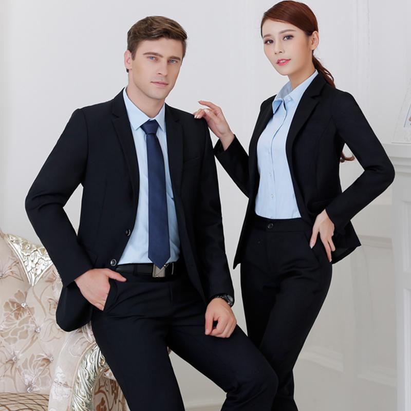 男女同款秋装OL职业装商务西装工作服定制BDYJK008